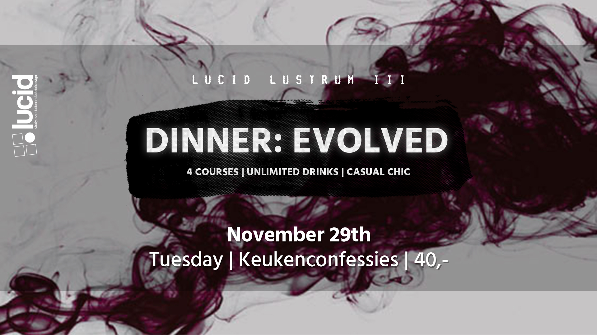 Lucid Lustrum Dinner – November 29th